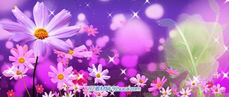 喜庆民族民歌 炫丽鲜花心情舒畅舞台背景 LED视频素材