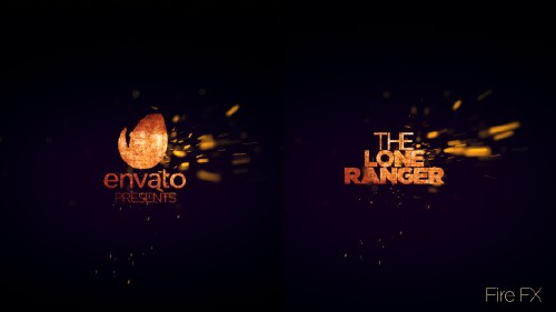极速大片级火花LOGO标志演绎AE模板 Spark Cinematic Logo Reveal