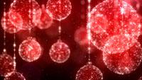 圣诞喜庆红球球 圣诞节日配景视频素材