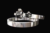 2组Rings Animation 男女情侣钻石戒指旋转特写 带通道动态视频
