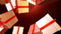 Christmas Gifts 圣诞节日素材 圣诞礼物盒坠落 高清动态视频