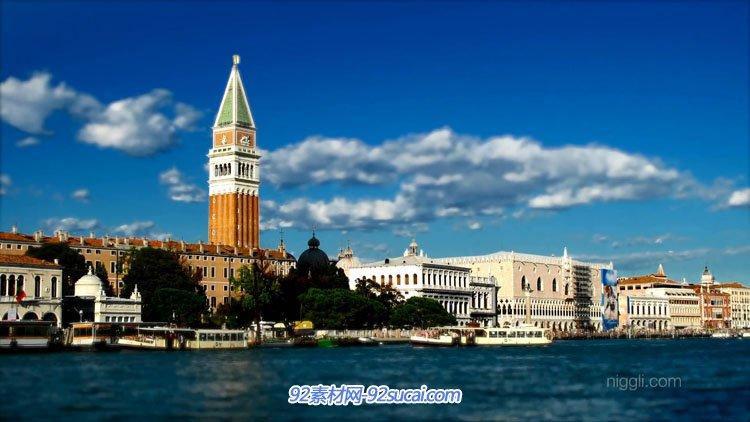 唯美高清延时摄影 意大利水城威尼斯城市小镇旅游风光风貌 Venice