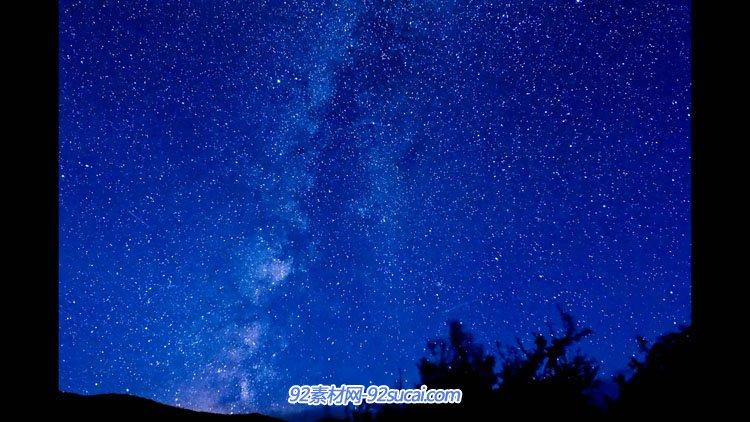 唯美延时拍照 震撼黑夜的星空 天空云变革动力风车高清实拍