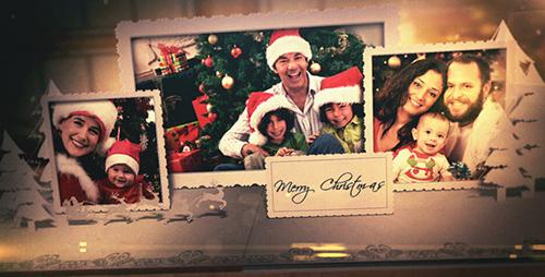 2015圣誕節新年快樂懷舊電子相冊AE模板 Merry Christmas