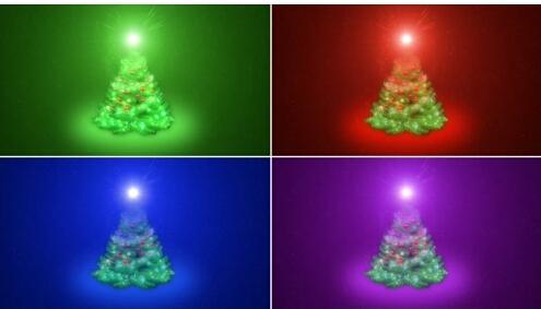 圣诞树灯光AE素材-christmas-animation
