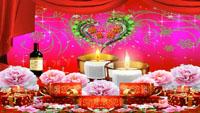 生日快乐动画 礼物盒蜡烛红酒鲜花舞台背景led大屏幕动态视频素材