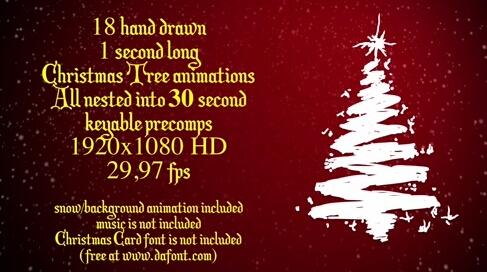 圣诞树AE素材 christmas-trees