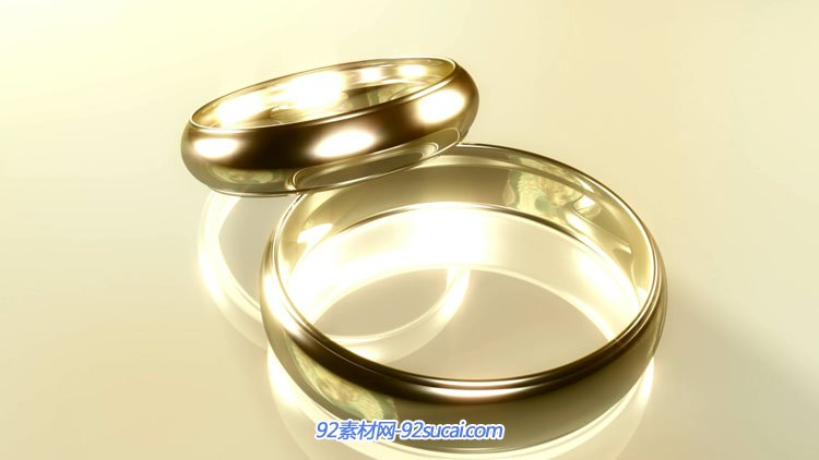 4组优雅的婚庆典礼结婚对戒 婚礼戒指动画舞台背景视频素材