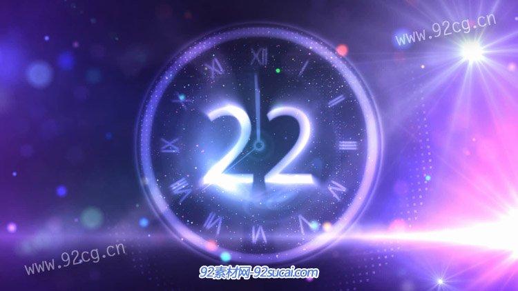 绚丽烟花30秒倒计时2015年新年快乐开场视频 动态背景视频素材