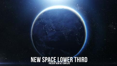 地球太空光芒AE字幕模板-space-light-lower-third