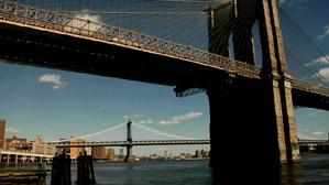 布鲁克林大桥brooklyn bridge 飞机高清航拍城市建筑延时摄影
