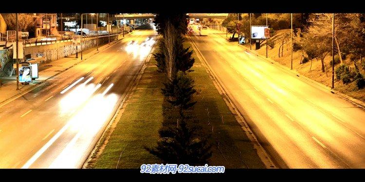 延时拍照-阿提卡Attica 都会交通车流灯光夜景电梯汽船高清实拍