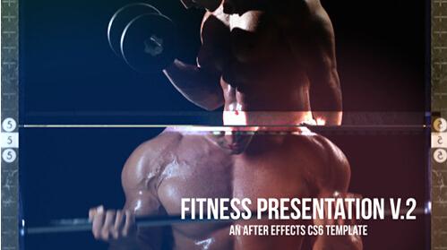 最新体育健身演示节目栏目包装AE模板 Fitness Presentation V.2