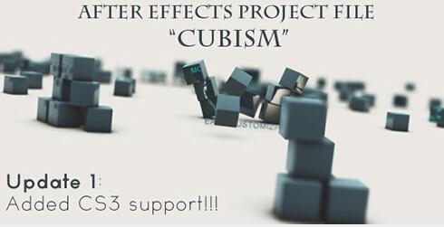 立体魔方视频展示AE模板-Cubism