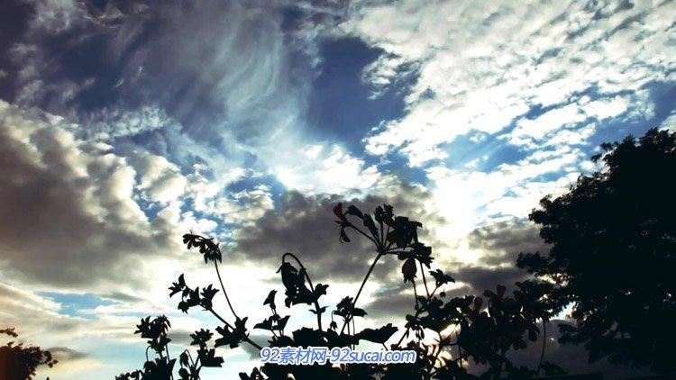 城市天空车流自然风景风光时间变化水滴树林延时摄影高清实拍素材