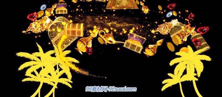 沙與海互動魔法粒子變幻神秘金杯寶藏百寶箱動感節奏動態背景視頻
