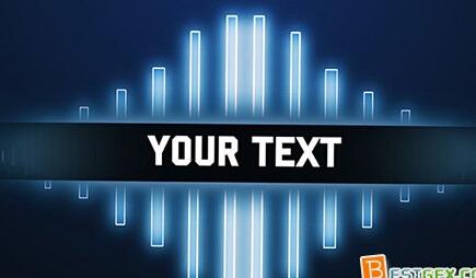 文字发光展示AE素材模板 Text Glow reveal