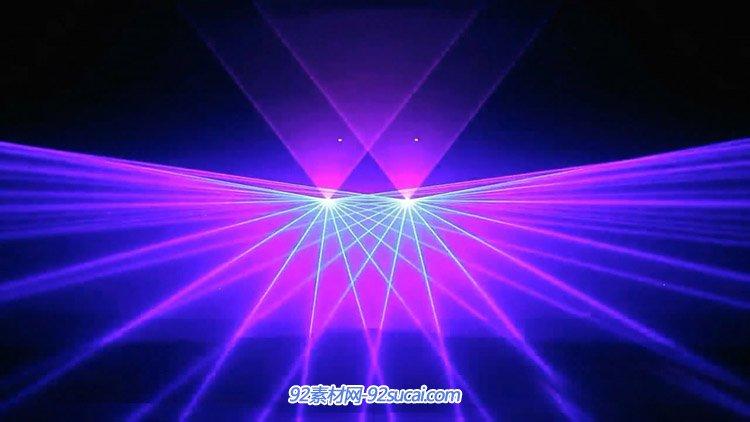 极品动感舞台雷射光 激光灯束变更秀 酒吧VJ师舞台配景视频素材