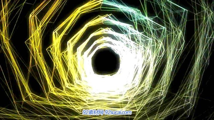 节奏网格转动科技动感隧道 动态背景视频素材