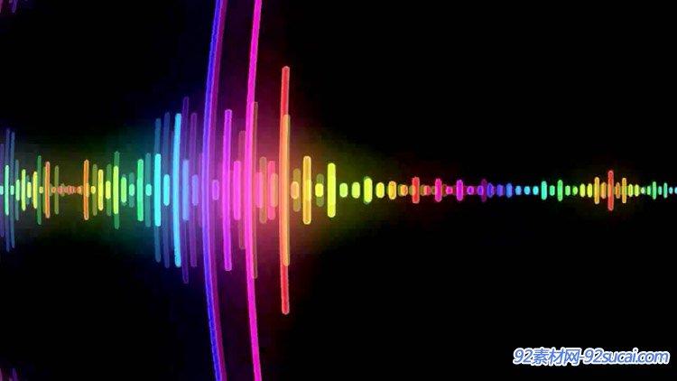 音乐旋律动感节奏闪动线条变化动画跟着节奏舞蹈舞台背景视频素材