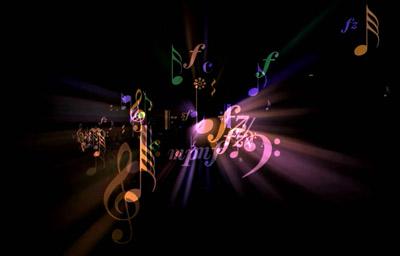 快乐的音符飞舞转动动画 动态背景视频素材