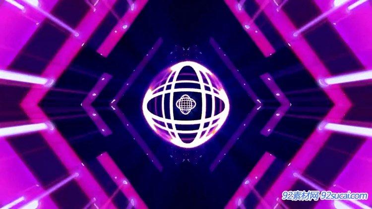 灯光线条飞散圈圈运动 动感酒吧舞台背景动态视频素材