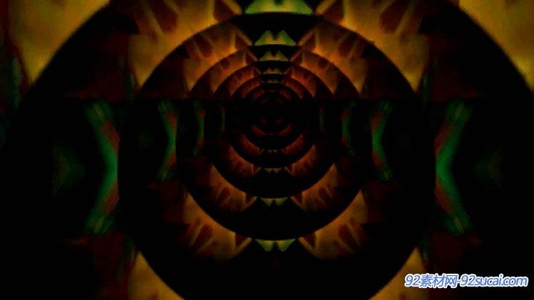 眩晕的炫彩隧道动画 动态视频素材免费下载