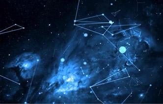 夜晚奥秘众多的星空 线条衔接活动动画 静态配景视频素材