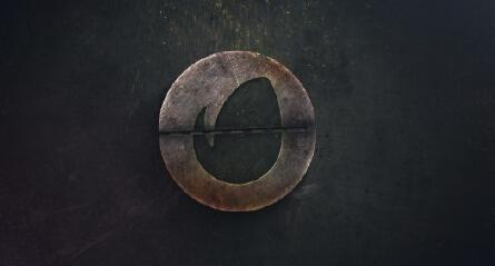 渐变暗色机器LOGO标志AE模板 Dirty Mechanism Logo