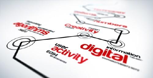 未来科技信息展示AE模版 Futuristic Logo Reveal