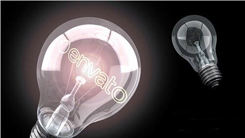 明亮灵感灯泡标志LOGO展示AE模板 Bright Idea Light Bulb Logo