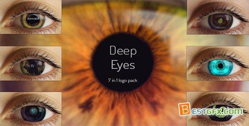 7组深奥眼球标记展现AE模板 deep_eyes