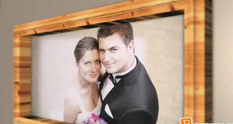个人婚庆电子相册AE模板 My Wedding Photo folder