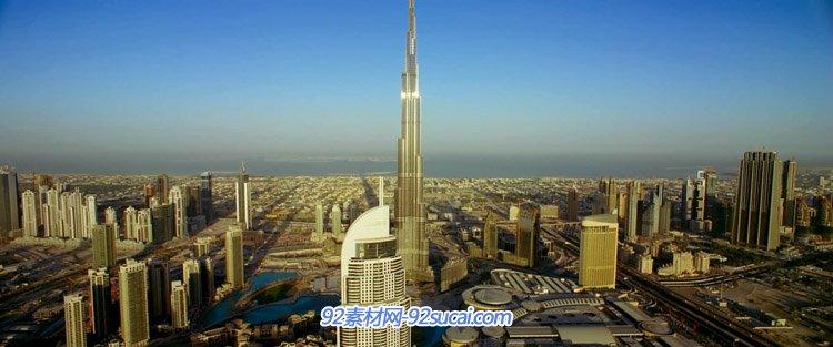世界第一高楼城市建筑哈里发塔-?#20064;?#22612;特写镜头高清实拍视频素材
