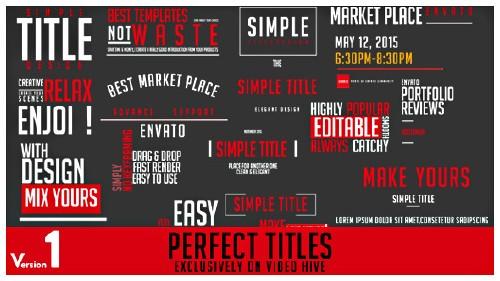 完美的標題動畫AE模板-perfect-ti<x>tles