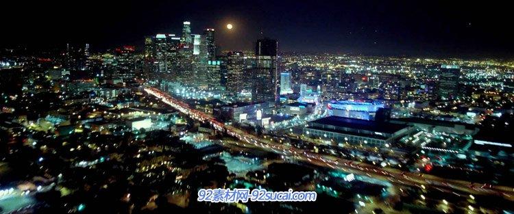 万家灯火的香港各大城市夜景航拍璀璨城市夜晚快速的车流高清实拍