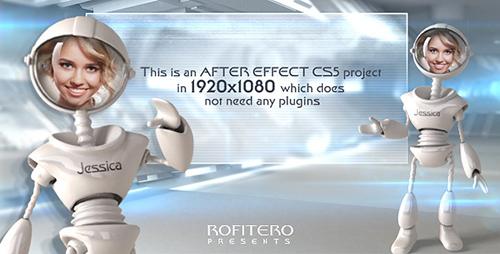 AE模板-滑稽人头机器人解说广播电视栏目包装 I Robot