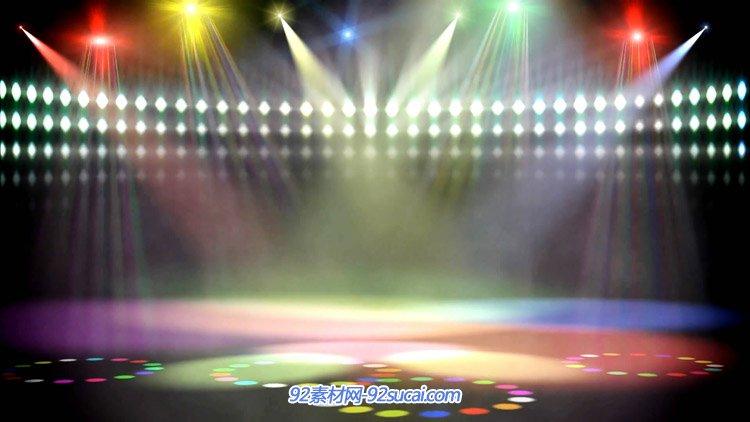 舞台灯光视频 炫彩聚光灯效果唯美灯光屏幕舞台背景动态视频素材