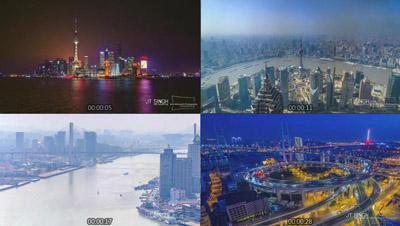 延时摄影这就是上海城市宣传片俯瞰城市风光灯光夜景高清实拍素材