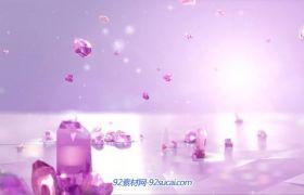 极品大气水晶女王公主的皇冠 婚礼婚庆片头 高清背景动态视频素材