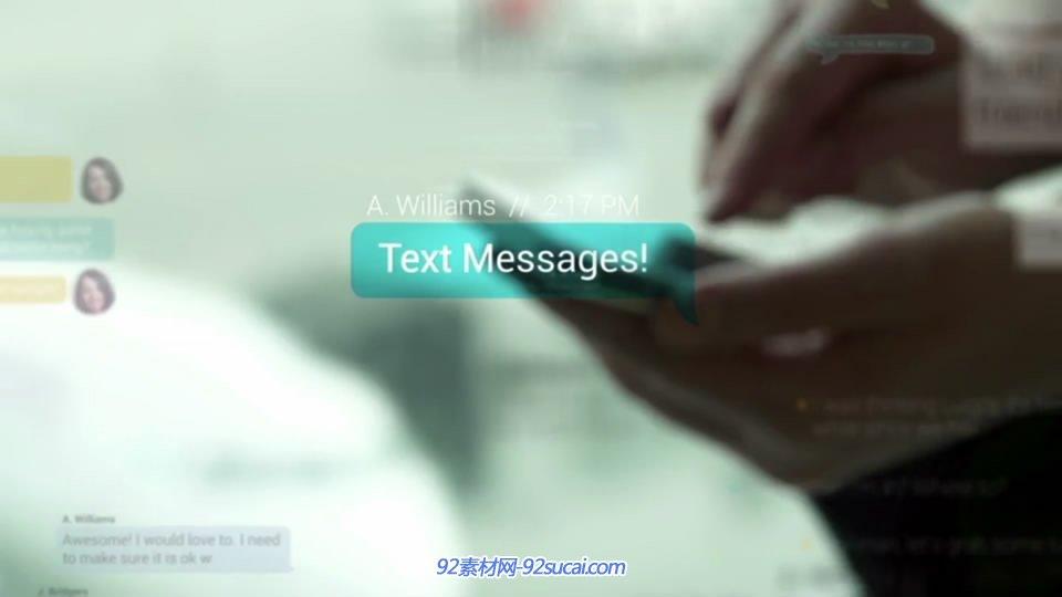 手机短信显示视频模板 text-messages