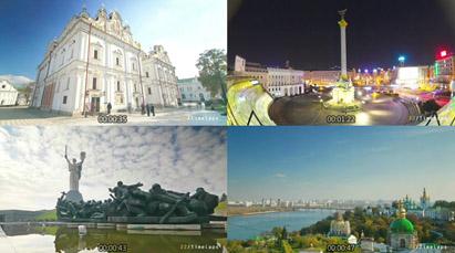 基輔Kyiv城市宣傳片 延時攝影高清實拍城市風光高樓歐洲建筑車流