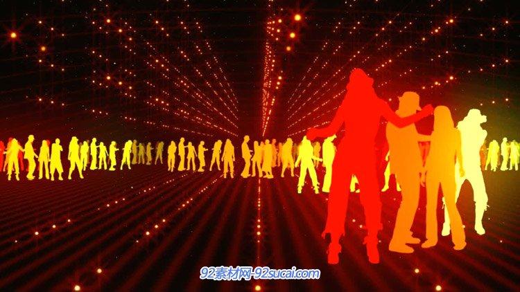 动感酒吧人群随音乐节拍舞动 一同摇晃VJ静态配景视频素材