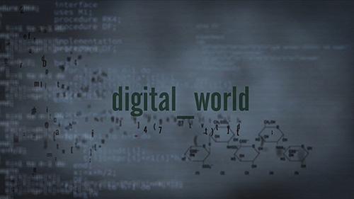 ae模板-全数字文字数码科技滚动背景屏幕展示视频模板- Digital T