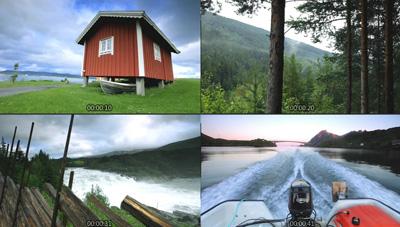 挪威的某个地方延时摄影 自然风光湖光山色船上钓鱼木屋高清实拍