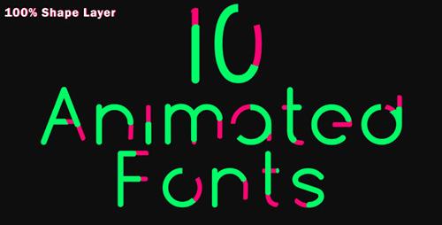 10组文字动画ae视频模板 10 Animated Fonts