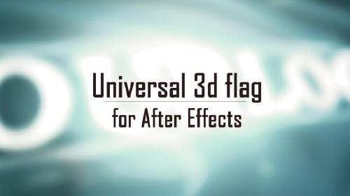 通用3d旗帜制作视频教程含工程文件-universal-3d-flag
