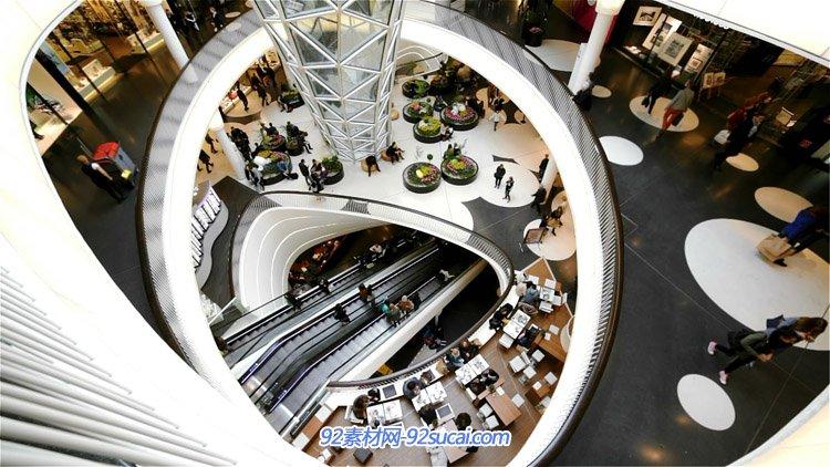 国外忙碌的商场购物中心人流高清实拍 Busy Day in Shopping Mall