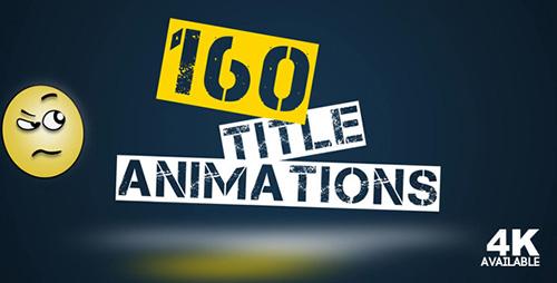 160组动画标题文字视频素材 160 ti<x>tle Animation