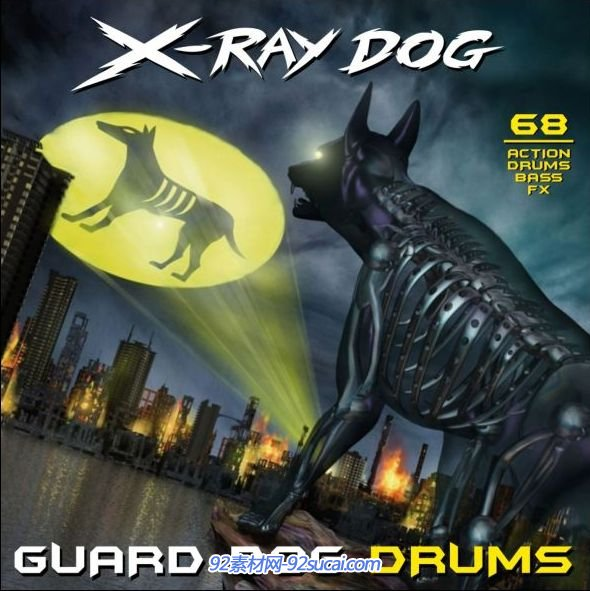 镭射狗 X-Ray Dog-CD68 Guard Dog Drums(flac)大气背景配乐素材